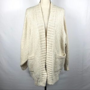 ZARA Knit Cardigan Size Small Ivory Wool Mohair